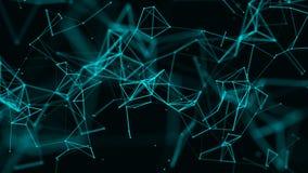 Digital plexus av gl?dande linjer och prickar abstrakt bakgrund framf?rande 3d vektor illustrationer
