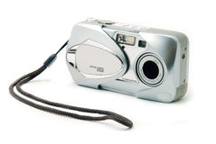 Digital Point-n-Shoot Camera. A point and shoot camera isolated on a white background Royalty Free Stock Image