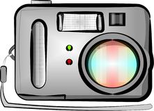 Digital point & shoot camera Stock Images