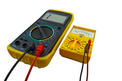 Digital and pointer multimeters Stock Image