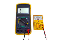Digital and pointer multimeters Royalty Free Stock Photo