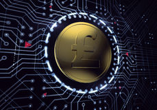 Digital Pound Sterling Currency Stock Photo