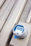 Digital Power Meter. A new digital power meter on a commercial building Stock Photos
