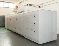 Digital press printing machine Stock Images