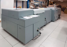 Digital press printing machine. Digital press printing is the reproduction of digital images on a physical surface. It is generally used for short print runs stock photography
