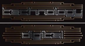 Digital printed circuit. Vector drawing Stock Photography