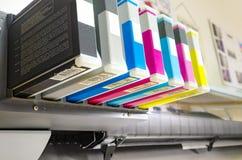 Digital printing cartriges. Toner - Digital printing. Inkjet plotter printer stock photography