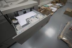 Digital printing. In printing office royalty free stock photo