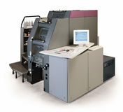 Digital printing press. On white Stock Photography