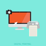 Digital printing Royalty Free Stock Images