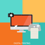 Digital printing Royalty Free Stock Photography