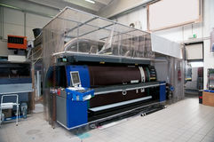 Digital printing - wide format press. Digital printing system for printing a wide range of superwide-format applications. These printers are generally roll-to royalty free stock images