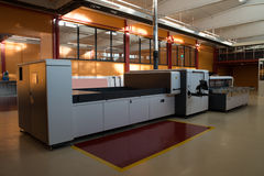 Digital printing - wide format printer. Digital printing system for printing a wide range of superwide-format applications. These printers are generally roll-to royalty free stock image