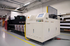 Digital printing - wide format printer. Digital printing system for printing a wide range of superwide-format applications. These printers are generally roll-to stock photo