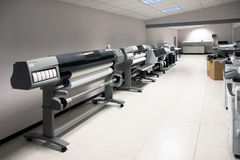 Digital printing - wide format printer Royalty Free Stock Image