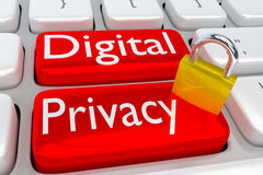 Digital Privacy concept Royalty Free Stock Photos