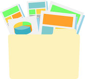 Digital Products with Collateral. In file folder Stock Photography