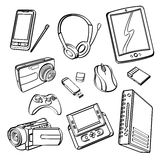 Digital Products Collection Stock Image