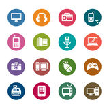 Digital Products Color Icons Royalty Free Stock Photography