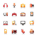 Digital Products Colorful Icons Stock Photos