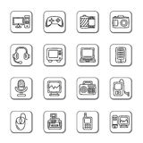 Digital Products Doodle Icons Stock Image