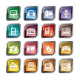 Digital Products Icons Stock Photo