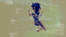 Digital a produit de l'animation d'une femme nageant sous l'eau banque de vidéos