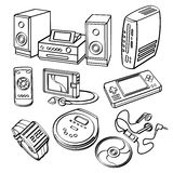 Digital produktsamling Arkivbild