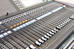 Digital audio mixing console royalty free stock photos