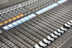 Digital audio mixing console royalty free stock image