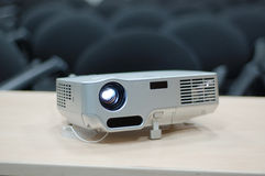 Digital Projector. Video projector for work presentation or home cinema entertainment stock photography