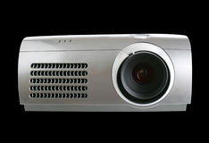 Digital Projector isolated on black Stock Photography