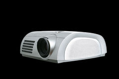 Digital Projector isolated on black Stock Photos