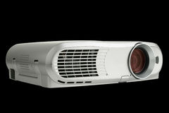 Digital Projector isolated on black. With clipping path embedded Royalty Free Stock Photography