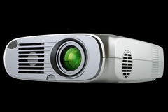 Digital Projector isolated on black. With clipping path embedded stock photo