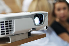 Digital projector at the presentation close-up Stock Photos