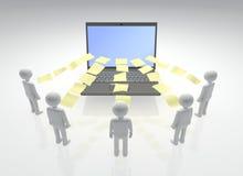 Digital-Projekt-Zusammenarbeit vektor abbildung