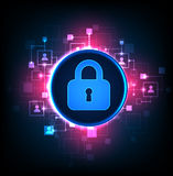 Digital protection and security. Stock Photography