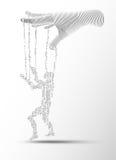 Digital Puppet vector illustration
