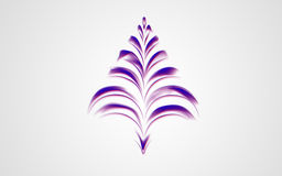 Digital purple tree Royalty Free Stock Photo
