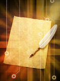 Digital Quill Pen Background Royalty Free Stock Photos