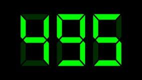 Digital räknare 0-999 - varje nummer i den separata ramen, 50fps