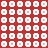 Digital rött och vitt cirkelpapper Royaltyfria Bilder