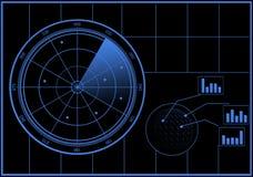 Digital Radar screen Stock Images
