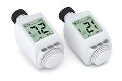 Digital radiator thermostatic valve Stock Image