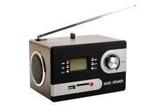 Digital radio with a blank screen and buttons. Digital radio with antenna on white background and blank screen Royalty Free Stock Photography