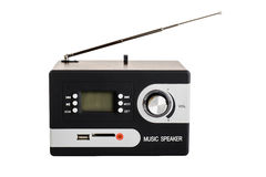 Digital radio with a blank screen and buttons. Digital radio with antenna on white background and blank screen Royalty Free Stock Images