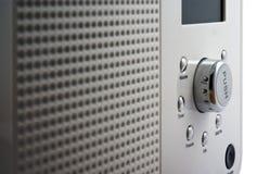 Digital radio close up. Modern digital radio isolated on white Royalty Free Stock Photos