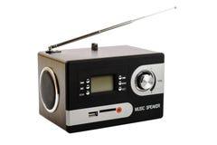 Digital radio med en tom skärm och knappar Royaltyfri Fotografi