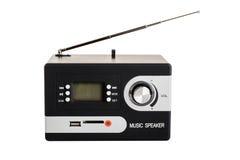 Digital radio med en tom skärm och knappar Royaltyfria Bilder